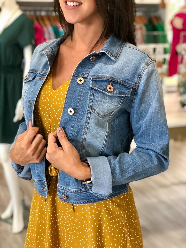 Blue Jean Jacket Cameo Boutique