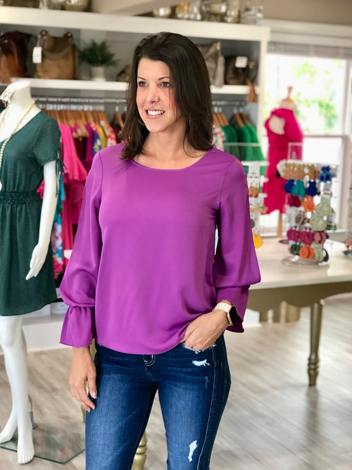 Cameo Boutique Purple Top